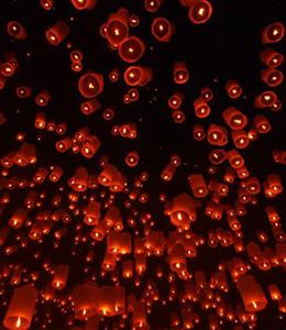 夜空に上がる無数のコムローイの幻想的な様子を、ぜひライブで体験してください