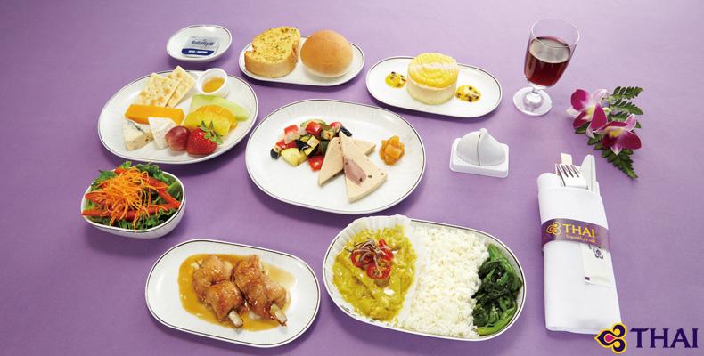 タイ国際航空ビジネスクラス機内食イメージ